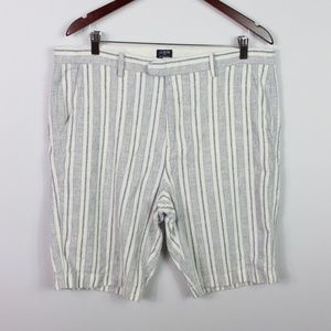 J.CREW Mens Striped Linen Cotton Rivington Shorts